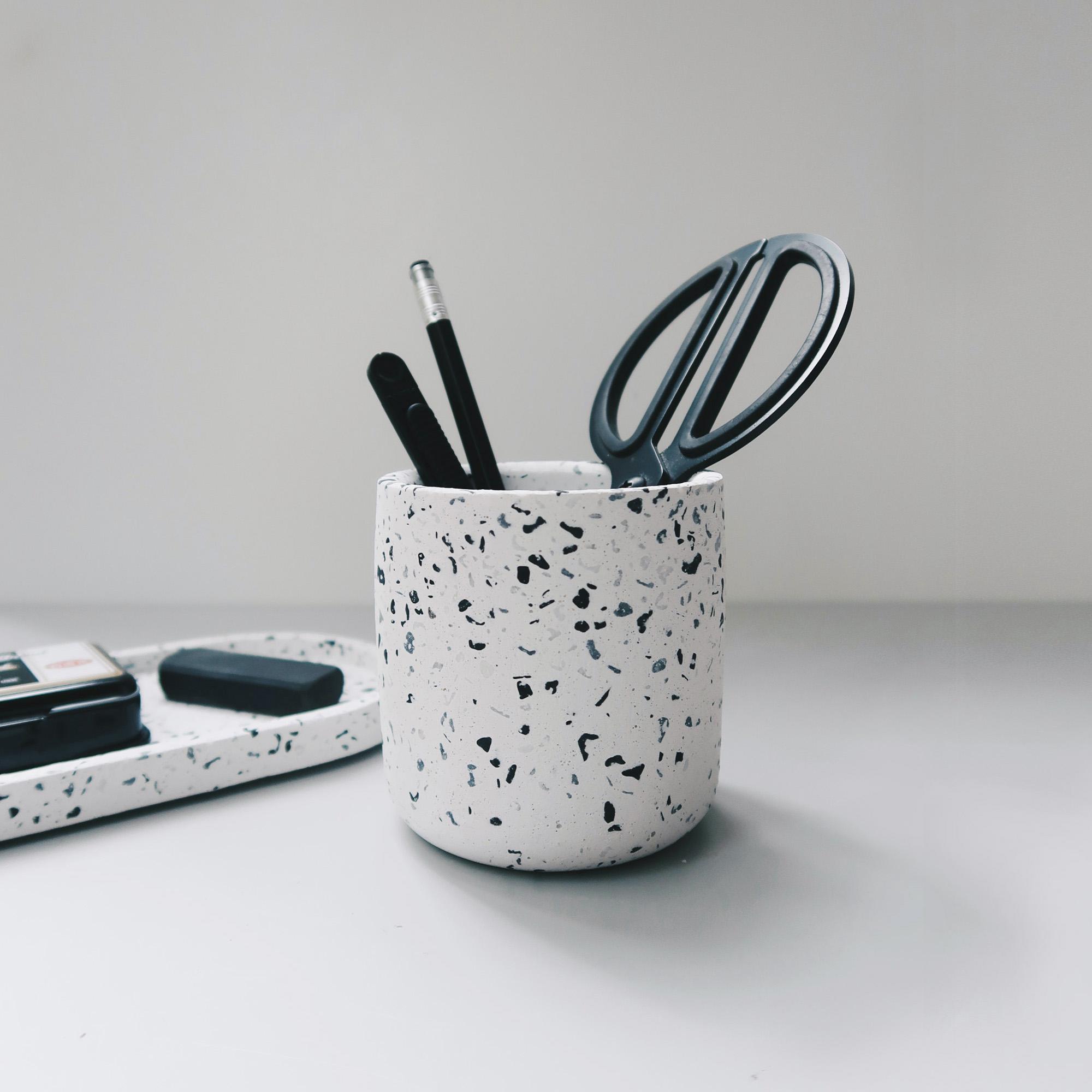Terrazzo 磨石子經典黑白水泥設計家飾・擺飾・禮物